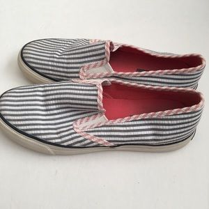 👗 Sperry Seersucker Slip On Shoes